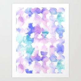 Dye Ovals Pink Turquoise Art Print