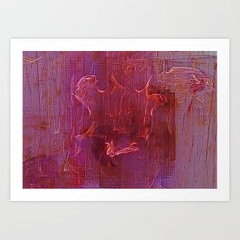 Wine Stains Art Print