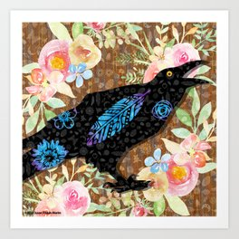 M is for Murder - Just Caws Art Print