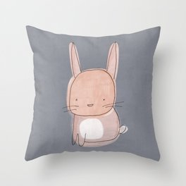 Baby Bunny Rabbit Throw Pillow