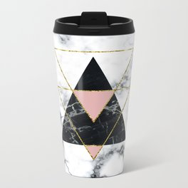 Geo glam marble Metal Travel Mug