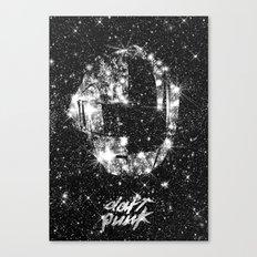 Daft Punk poster helmet Space stars, random access memories, disco, retro digital  print Canvas Print
