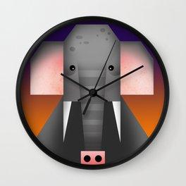 Geometrical Elephant Wall Clock