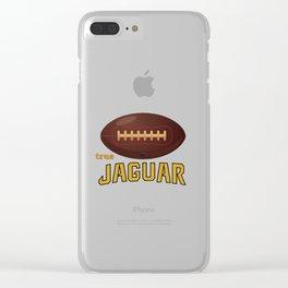 True Jaguar American Football Design black lettering Clear iPhone Case