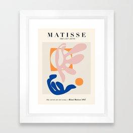 Exhibition poster Henri Matisse. Framed Art Print