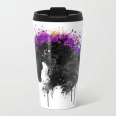 Horse Head Watercolor Silhouette Metal Travel Mug