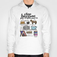 snl Hoodies featuring Things Leslie Knope puts Whipped Cream on by Liana Spiro