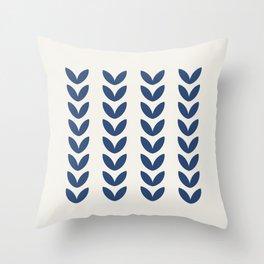 Leaf Pattern - Scandinavian Throw Pillow