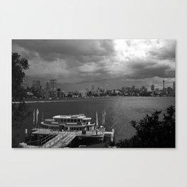 B & W of Sydney Harbour Canvas Print