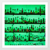 alcohol Art Prints featuring Alcohol Wall by Chee Sim