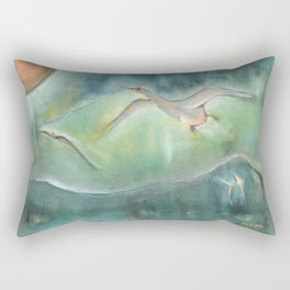 Overnight Flight Rectangular Pillow
