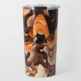 Wavy orange and brown Travel Mug