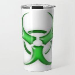 Green Biological Hazard Symbol Travel Mug