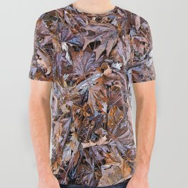 WET FALLEN LEAVES UNDER A BLUE SKY All Over Graphic Tee