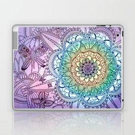 Purple Butterfly Mandala Laptop & iPad Skin