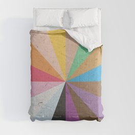 Rainbow Wheel of Inclusivity Comforters