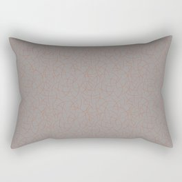 Cavern Clay SW 7701 Abstract Crescent Shape Pattern on Slate Violet Gray SW9155 Rectangular Pillow