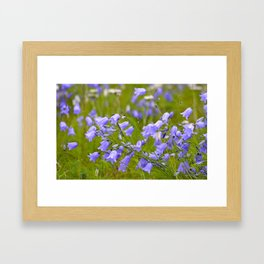 Bluebells Meadow #decor #society6 Framed Art Print