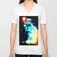 storm trooper V-neck T-shirts featuring STORM TROOPER by shannon's art space