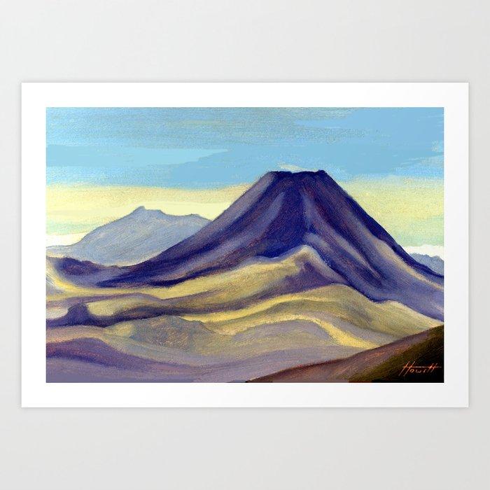 Mount Ngauruhoe Art Print