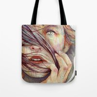portrait Tote Bags featuring Opal by Michael Shapcott