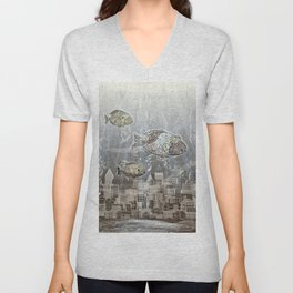 Deep in the Ocean Unisex V-Neck