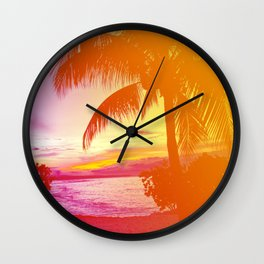 Tropical Dreamsicle Wall Clock
