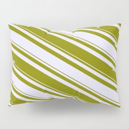 Lavender & Green Colored Striped/Lined Pattern Pillow Sham