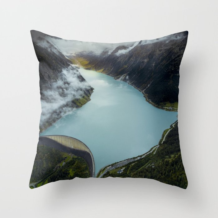 Hidden lake in Austrian Alps Throw Pillow