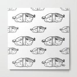 Sushi man Metal Print