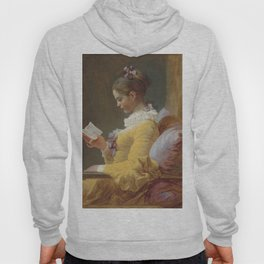 Jean Honoré Fragonard Young Girl Reading c. 1769 Painting Hoody