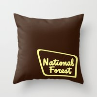 the national Throw Pillows featuring National Forest by Man and his World
