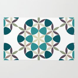 Flower of life tile Rug