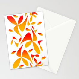 Pattern 160 red yellow Stationery Cards