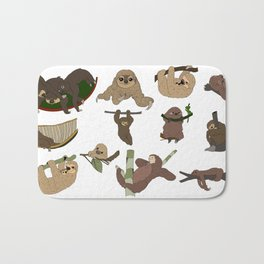 Sloth Party Bath Mat
