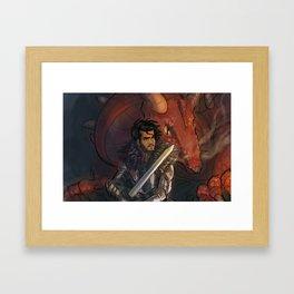 Dragons and Direction: Zayn Framed Art Print