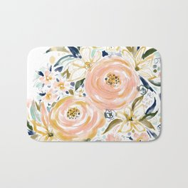 SMELLS LIKE LIGHT AND LOVE Floral Bath Mat