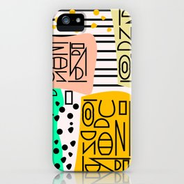 Strange alphabet no.2 iPhone Case