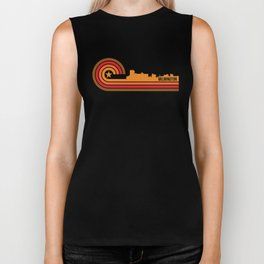 Retro Wilmington North Carolina Skyline Biker Tank