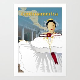 Hispanic Heritage Series - Central America - Panamanian Dancer Art Print