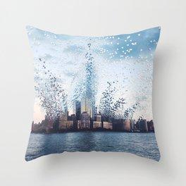 Citiescape Throw Pillow