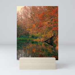 Fall At Oak Creek Pond Mini Art Print