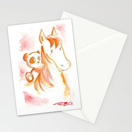 It's Never Too Late to Get Back On The Horse Stationery Cards