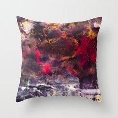 Abstract Encaustic I  /  Encaustique abstrait I  /  Encáustica abstracto I Throw Pillow