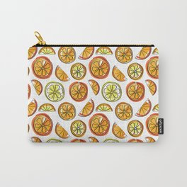 Illustrated Oranges and Limes Carry-All Pouch