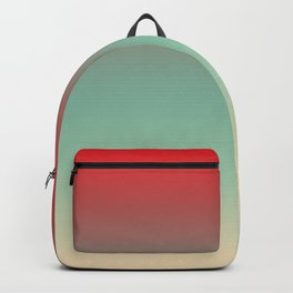 Tortola - Classic Colorful Red Green Beige Abstract Minimal Modern Summer Style Color Gradient Backpack