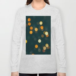 Bokeh Blurred Lights Shimmer Shiny Dots Spots Circles Out Of Focus Long Sleeve T-shirt