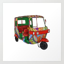 Cozumel Car Art Print