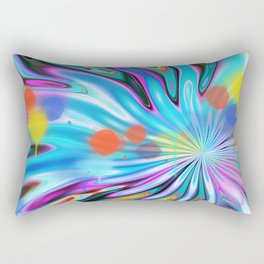 Abstract splash and water colour droplets Rectangular Pillow