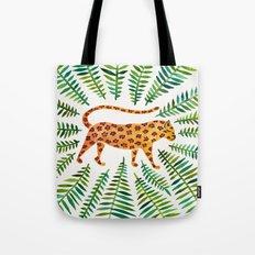Jaguar – Green Leaves Tote Bag